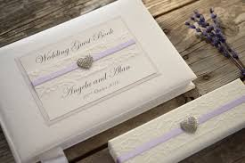 guest book and pen set ivory personalised wedding guest book and pen set lace and