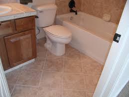 ceramic wood tile bathroom beige large window curtains beside