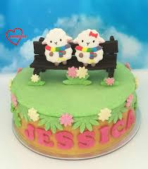 loving creations for you u0027sheep on bench u0027 mango sponge and