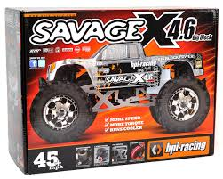 rc monster truck nitro savage x 4 6 1 8 rtr monster truck by hpi racing hpi109083