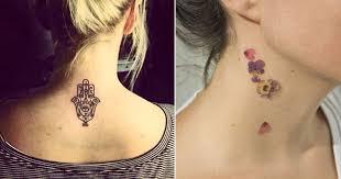 imagenes tatuajes cuello 25 tatuajes minimalistas y muy femeninos para tu cuello te