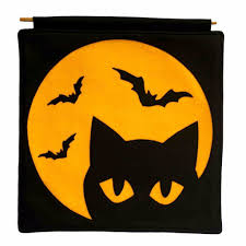 bats on the moon orange on black pillow cover u2013 studio arethusa