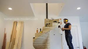 homemade modern homemade modern diy ep99 diy cnc spiral staircase escaleras