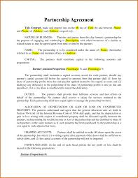partnership contracts template with simple partnership agreement