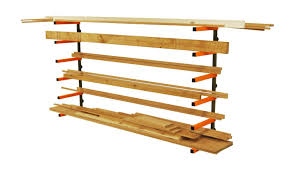 Wall Mounted Wooden Shelves by Lumber Storage Rack Portamate Pbr 001 Six Level Wall Mount Wood