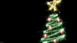 christmas tree on christmas black background wallpapers 9741