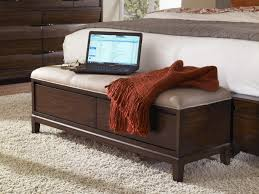 Upholstered Bench For Bedroom Bedrooms Bedroom Dressers Storage Bench With Cushion End Of Bed