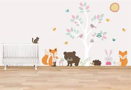 Woodland Forest Peel And Stick Woodland Nursery Wall Decals Wall Decals Nursery Nursery