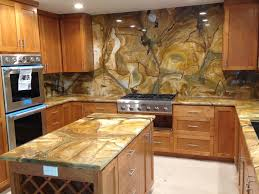 granite countertop contemporary wood cabinets microwave in