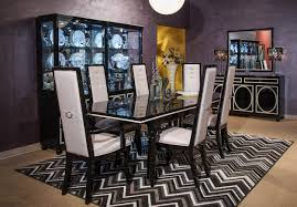 Black And Cream Dining Room - furniture charming cream dining table set by aico furniture on
