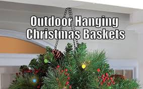 Outdoor Hanging Christmas Decorations Battery Operated Christmas Hanging Baskets With Led Lights Elink