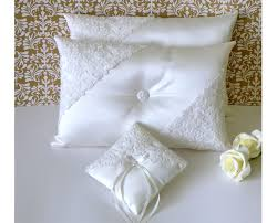 wedding pillows set of ivory wedding kneeling pillows and a matching ring pillow