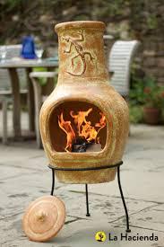 Extra Large Clay Chiminea La Hacienda Lizard Large Clay Chimenea Burnt Orange Fireplace