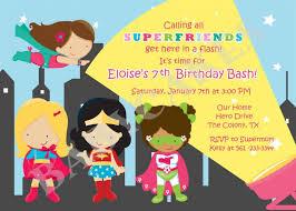 printable superhero birthday invitations gallery invitation