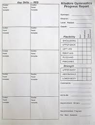 coaches report template best gymnastics report cards recreational gymnastics