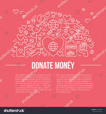 Fundraising Invitation Card Card Poster Template Charity Fundraising Objects Stock Vector