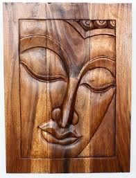 carved wood framed wall wall decor buddha wood framed panel black white chestnut thai