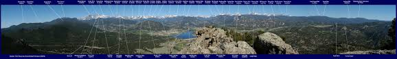 Colorado Front Range Map Rocky Mountain National Park Climbing Hiking U0026 Mountaineering