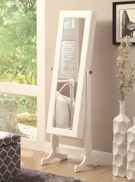 Free Standing Jewelry Armoire With Mirror Coaster Jewelry Armoires Casual Jewelry Mirror Cheval Del Sol