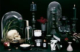 a black candle setup for your halloween table the find lonny