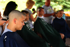 germany hair cuts ramstein airmen pay st baldrick s 6 645 for hair cut ramstein