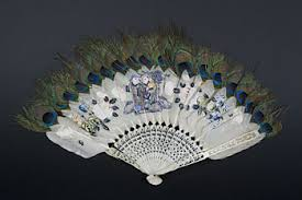 peacock feather fan whaling artifact peacock feather fan