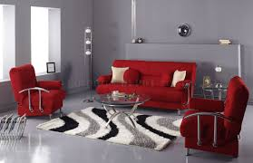 red microfiber modern living room sofa bed w storage