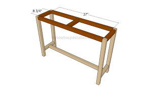 how to build a table top how to build a console table howtospecialist how to build step