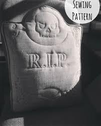 gravestone halloween decorations custom tombstone sewing pattern halloween diy scary pillow