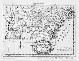 Nc Maps 1765 Map Of North Carolina South Carolina And Georgia