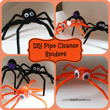 diy pipe cleaner spiders diy halloween decorations