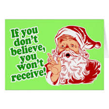 i believe in santa claus greeting cards zazzle