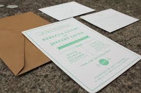 Wedding Invitations Brisbane Little Peach Mint U0026 Kraft Letterpress
