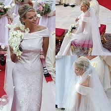 armani wedding dresses pictures of princess charlene of monaco wedding dress see