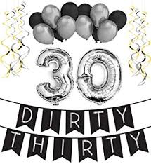 30th birthday decorations thirty 30th birthday party pack black