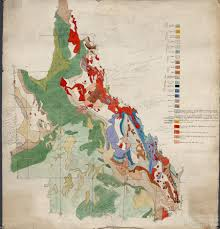 Geological Map Preliminary Plot Of Queensland Section Of Geological Map Of The