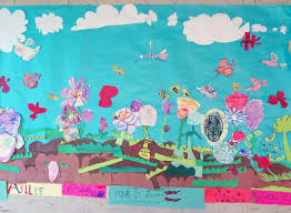 Garden Art Projects The Talking Walls Spring Garden Collaborative Paper Mural