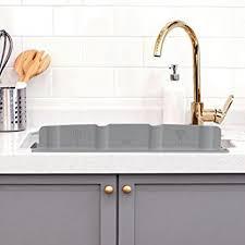 bathroom sink splash guard amazon com mia home silicon kitchen sink water splash guard grey