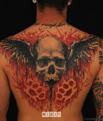 44 groovy back tattoos for men