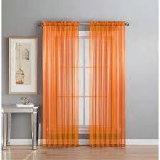 And Orange Curtains Orange Sheer Curtains Drapes Window Treatments The Home