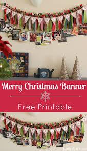merry christmas banner diy merry christmas banner freeprintable tutorial our