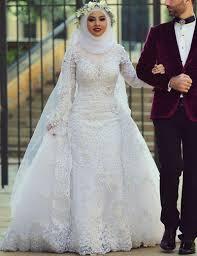 Custom Made Wedding Dresses Uk Aliexpress Com Buy 2017 White Arab Muslim Wedding Dresses Custom