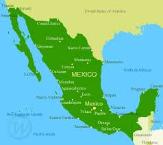 mexico map map of mexico