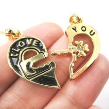 you necklace images Couples 2 piece heart shaped quot i love you quot lock and key pendant JPG