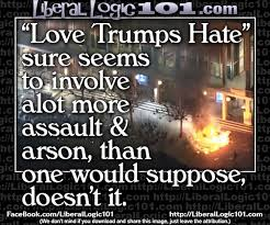 Love Hate Meme - hilarious what love trumps hate really involves meme