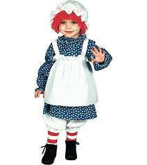 childs halloween costumes infant toddler raggedy ann halloween costume