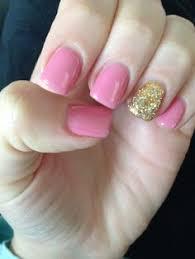 light pink and gold nails nails pinterest gold nail