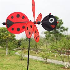 bee beetle animal windmill garden ornaments multicolor wind