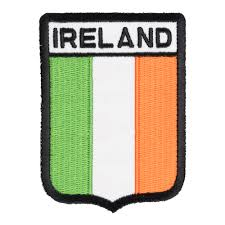 ireland flag shield patch country flag patches