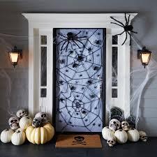 Office Halloween Decorating Contest Backyards Spider Door Garage Halloween Decor Decorating Contest